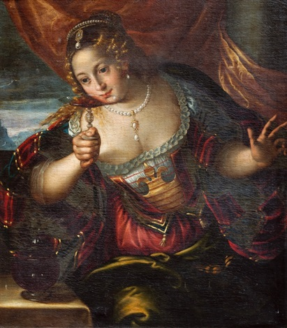dama de la copa by titian tiziano vecelli