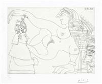 égyptien et femmes, from la serie 347 by pablo picasso