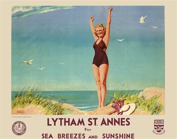 lytham st annes poster by w smithson broadhead