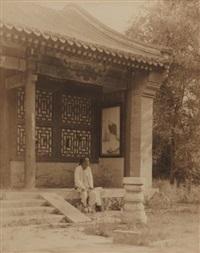 homme dans la rue, homme assis devant un temple (2 works) by horace jackson