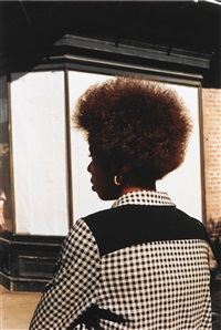 untitled (woman with afro) (from dust bells, volume i), new orleans, la by william eggleston