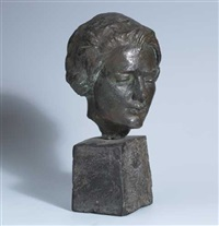 a study - head of a woman by jerome connor