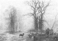 on the dorney road below taplow station - taplow bucks by sidney pike