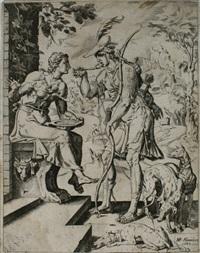 die geschichte mit der linsensuppe zwischen jacob und esau (from die geschichte von jacob) by maerten jacobsz van heemskerck