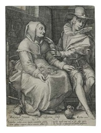 an ill-matched couple (after hendrik goltzius) by jacob i goltzius