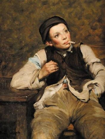 le jeune fumeur by joseph bail