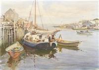 quiet harbor, cape cod by james milton sessions