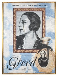 enjoy the new fragrance (tamara de lempicka for greed) by francesco vezzoli