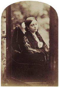 young woman in lace dress taken in a mirror by oscar gustave rejlander