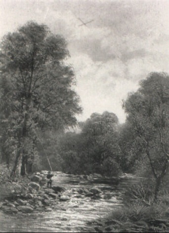 anglers salmon fishing by john gunson atkinson