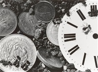 untitled (clock/coins) (from the ant series) by david wojnarowicz
