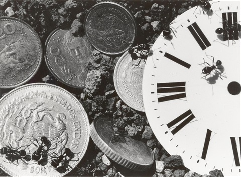 untitled clockcoins from the ant series by david wojnarowicz