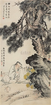drink after wine tree by qi baishi, xiao sun, chen banding, wang xuetao, wu jingting and xu cao