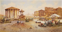 the temple of vesta in rome by ettore roesler franz
