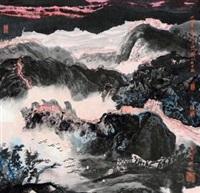 长城夕照 by liu guohui