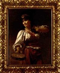 the tambourine girl by josef lieck