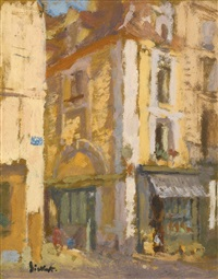 a street corner, dieppe by walter richard sickert