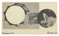 untitled (bruce conner stripper/lucky emblem cut out) by ray johnson