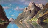 norwegische fjordlandschaft by fritz chwala