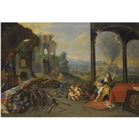 an allegory of war by jan van kessel