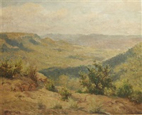 mitchell's ridge, mt victoria, looking south by john allcott