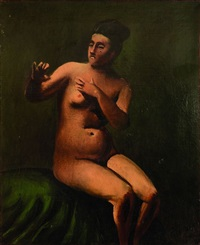 nu assis by andré derain
