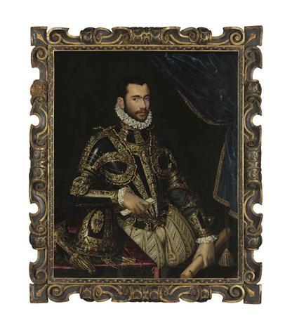 portrait of jacopo boncompagni three quarter length in armor by scipione pulzone