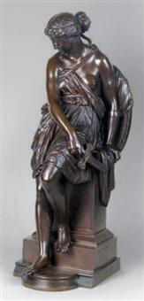 femme au glaive brisé by eugene-antoine aizelin