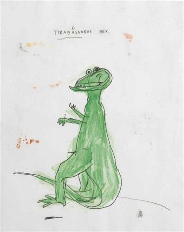 tyranasaurus rex by jean michel basquiat