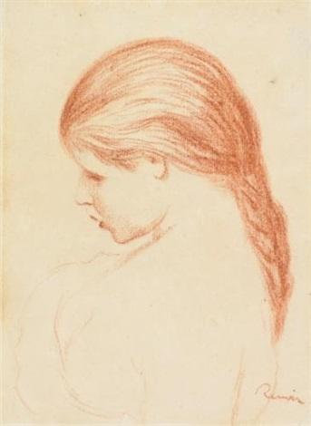 profil de jeune fille by pierre auguste renoir