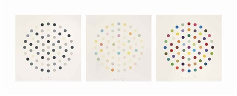 three spot etchings set of 3 by damien hirst