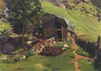 sennerhütte in tirol by joseph rummelspacher