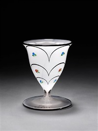 footed vase by hans bolek