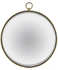 a convex gilt-metal mirror, 1950s by piero fornasetti