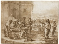 the calling of st. matthew by hieronymus francken the younger