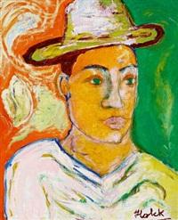 portræt af en mand by henrik s. holck