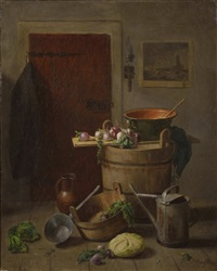 still life with vegetables by josef mansfeld