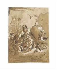 god the father with angels by giovanni domenico tiepolo