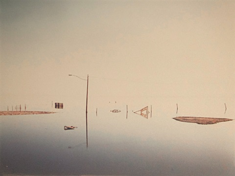 submerged lampost salton sea by richard misrach