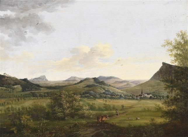 landschaft mit kühen im vordergrund by bockorni