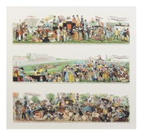 the road to the derby (6 works) by george cruikshank