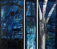house, tower, tree (from italy, antartica; 3 works) by laura newman