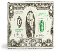 bank note - 2 us dollars by wang jin