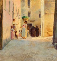 view of subiaco in italy by cilius (johannes konrad) andersen