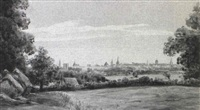 a view across the fields towards oxford by g. davidson