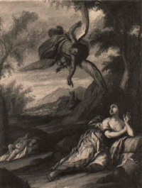 the angel appearing to hagar by giulio benso