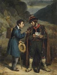 rencontre dans la campagne napolitaine by edmé jean pigal