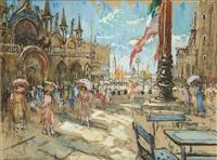 vue animée de venise en 1921 by adrien jean le mayeur de merprés