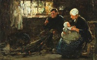 a fisherman with his family by john robertson reid