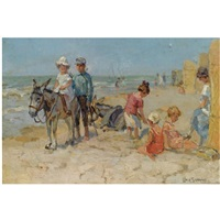 a summer's day on the beach by louis soonius